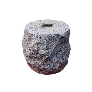 束石 白御影石 G603 割肌 φ7寸x7寸 25kg|yougan