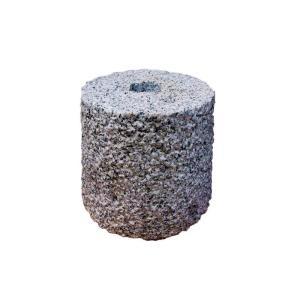 束石 白御影石 G603 ビシャン φ7寸x7寸 25kg|yougan