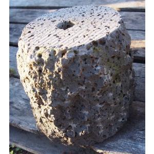 束石 溶岩 割肌 φ7寸x7寸 17kg|yougan