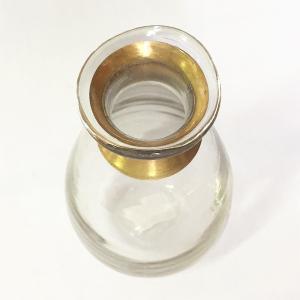 ガラスの花瓶 フラワーベース BRASSネック ウィルト(クリア)|youngole-2|03