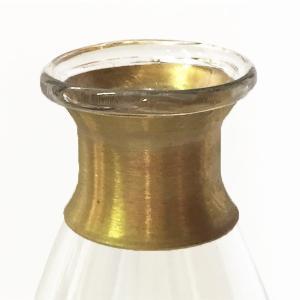 ガラスの花瓶 フラワーベース BRASSネック ウィルト(クリア)|youngole-2|04