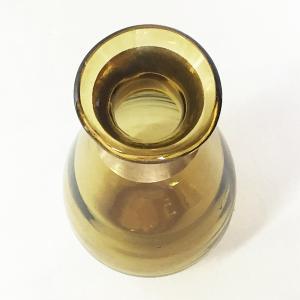 ガラスの花瓶 フラワーベース BRASSネック ウィルト(アンバー)|youngole-2|03