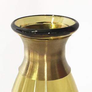 ガラスの花瓶 フラワーベース BRASSネック ウィルト(アンバー)|youngole-2|04