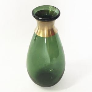 ガラスの花瓶 フラワーベース BRASSネック ウィルト(グリーン)|youngole-2|02