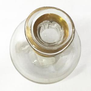 ガラスの花瓶 フラワーベース BRASSネック スウェル(クリア)|youngole-2|03