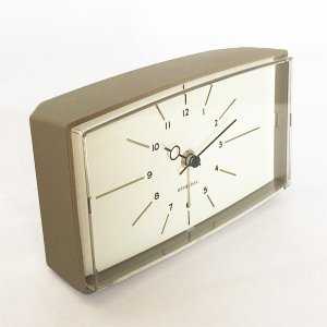 アナログの置時計 Robledo[ロブレド]デスククロック(グレー)|youngole-2