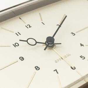 アナログの置時計 Robledo[ロブレド]デスククロック(グレー)|youngole-2|06