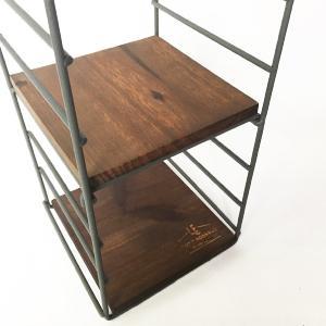 おしゃれなアイアンと木製のラック ヴィー・バーティカルラックS|youngole-2|04