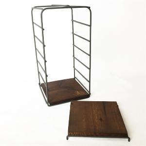 おしゃれなアイアンと木製のラック ヴィー・バーティカルラックS|youngole-2|07