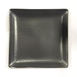 日本製の平皿 トウジキトンヤ SHIKAKU錆黒7寸角皿 youngole-2 02