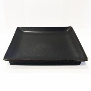 日本製の平皿 トウジキトンヤ SHIKAKU錆黒7寸角皿 youngole-2 04
