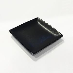 日本製の平皿 トウジキトンヤ SHIKAKU錆黒3寸角皿|youngole-2