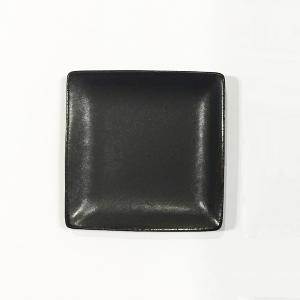 日本製の平皿 トウジキトンヤ SHIKAKU錆黒3寸角皿|youngole-2|02