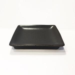 日本製の平皿 トウジキトンヤ SHIKAKU錆黒3寸角皿|youngole-2|04