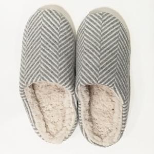 Suave Textile ヘリンボーンルームシューズ(グレー)|youngole-2