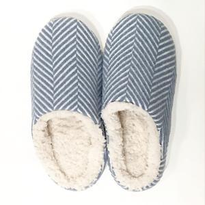 Suave Textile ヘリンボーンルームシューズ(ブルー)|youngole-2
