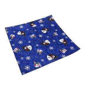バンダナ 55×55cm SHORE THING サンタクロース 雪だるま 綿 青