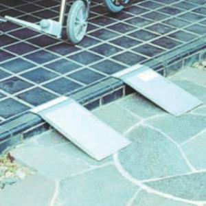 シクロケア アルミ安心スロープ 携帯用2枚組 9052-4705(代引き不可)(同梱不可)|youplan
