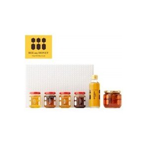 BEE my HONEY GIFT BOX L-2 (塩はちみつ・胡椒はちみつ・ハーブはちみつ・シナモンはちみつ・ヴィネガー・大人のレモネード)(代引き不可)(同梱不可)|youplan