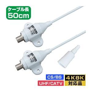 高性能すきまケーブル 50cm (フラットケーブル・隙間ケーブル)【4K8K対応】(e3130) yct/c3 youplus-corp