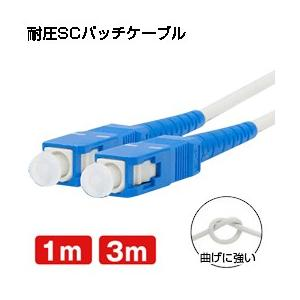 光ファイバーケーブル(耐圧) (1m/3m) 両端SCコネクタ付き 宅内光配線コード(光ケーブル 光コード 光パッチケーブル)(メール便送料無料) ycm3|youplus-corp