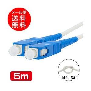 光ファイバーケーブル(耐圧) (5m)両端SCコネクタ付き 宅内光配線コード(光ケーブル 光コード 光パッチケーブル)(メール便送料無料) ycm3|youplus-corp