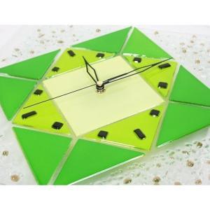 カチカチ音のしない連続秒針!ステンド風のガラス製壁掛時計です♪ステンド風壁掛け時計(大) インテリア おしゃれ|your-shop