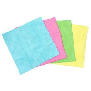 4色アソートセット 極細繊維が汚れをキャッチ!マイクロファイバー キッチンクロス  掃除 万能 楽ちん カラ拭き 水拭き|your-shop