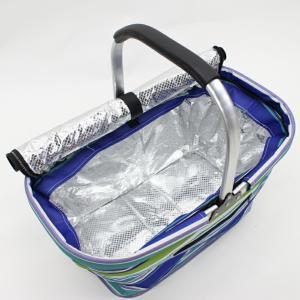 軽量アルミだから持ち運びラクラク!お買い物やピクニックに便利! ピクニック保冷バッグ 30L(大) 大容量 おしゃれ 収納 コンパクト 保冷|your-shop