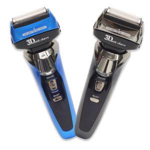 キワ剃り刃、3枚内刃、4枚外刃でしっかり剃れる!水洗い可能で清潔! フローティング充電シェーバー SL-8100 メンズ ひげ 防水|your-shop