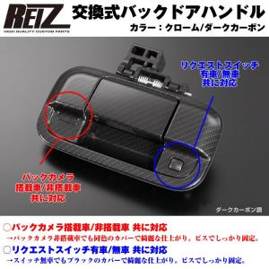 【カーボン】REIZ ライツ 交換式バックドアハンドル1P 新型ワゴン R スティングレー MH34 / 44 後期 (H26/8-)|yourparts
