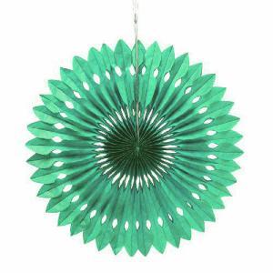 ペーパーファン 緑 40cm 装飾 デコレーション 撮影 9色あり クリックポスト対応|yourstylewedding