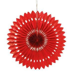 ペーパーファン 赤 40cm 装飾 デコレーション 撮影 9色あり クリックポスト対応|yourstylewedding
