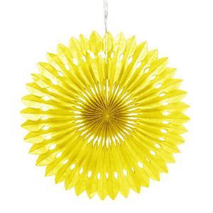 ペーパーファン 黄色 40cm 装飾 デコレーション 撮影 9色あり クリックポスト対応|yourstylewedding