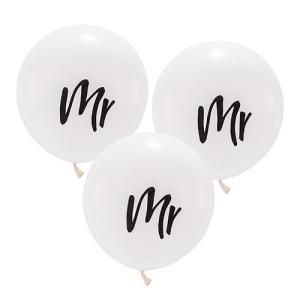 バルーン mr ミスター 風船 3個セット 結婚式 ウエディング 飾り メール便|yourstylewedding