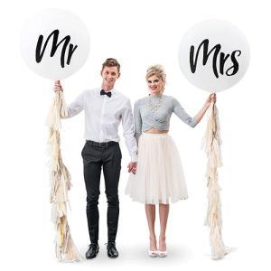 ジャンボバルーン mr mrs ミスター ミセス 風船 フリンジセット ウエディング 結婚式 飾り 正規代理店 yourstylewedding