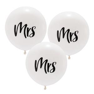 バルーン mrs ミセス 風船 3個セット 結婚式 ウエディング 飾り メール便|yourstylewedding