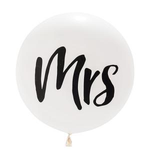 ジャンボバルーン mrs ミセス 風船 ウエディング 結婚式 デコレーション 飾り|yourstylewedding