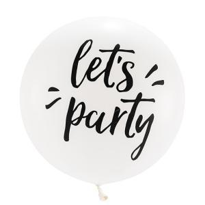 ジャンボバルーン パーティー風船 let's party ウエディング 結婚式 デコレーション 飾り|yourstylewedding