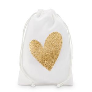 ラッピング プレゼント プチギフト用 袋 布袋 ハート 12枚セット M|yourstylewedding