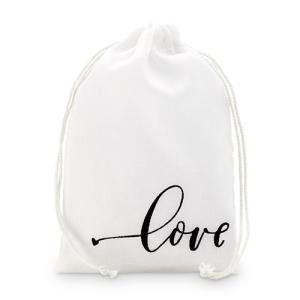 ラッピング プレゼント プチギフト用 袋 布袋 love 12枚セット M|yourstylewedding