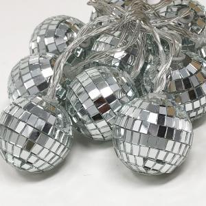 LED イルミネーション ミラーボール ミニランプ 10球 ライト 単3 電池|yourstylewedding