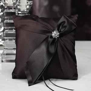 リングピロー ビバリークラーク サテンリボン ブラック 黒|yourstylewedding