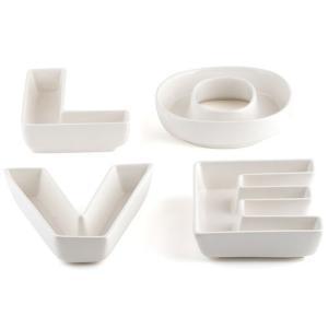 LOVEの文字の皿 プレート 4枚セット パーティー ウエディング|yourstylewedding