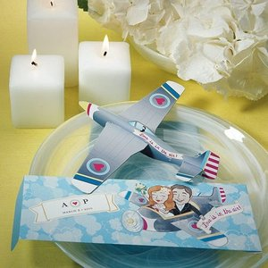 プチギフト ハネムーン 組立式飛行機 12個セット|yourstylewedding