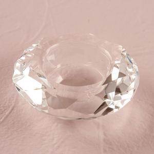 キャンドルホルダー クリスタルガラス ティーライトキャンドル用 ダイヤモンドカット|yourstylewedding