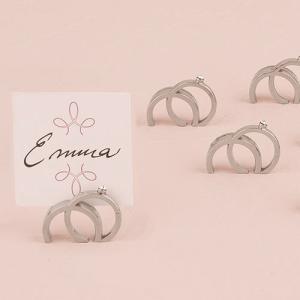 カード立て 金属製 シルバー リング型 指輪 8個セット|yourstylewedding