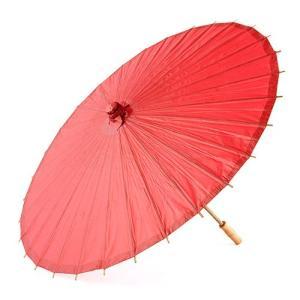 和傘 ペーパーパラソル 紙傘 赤 レッド 全18色 撮影や装飾に|yourstylewedding