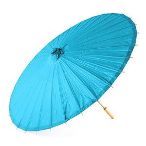 和傘 ペーパーパラソル 紙傘 青 カリビアンブルー 全18色 撮影や装飾に|yourstylewedding
