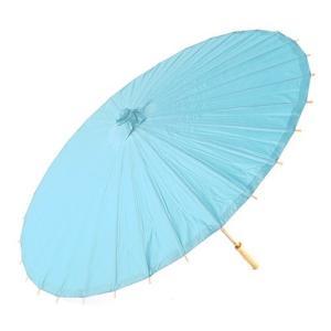 和傘 ペーパーパラソル 紙傘 水色 青 アクアブルー 全18色 撮影や装飾に|yourstylewedding